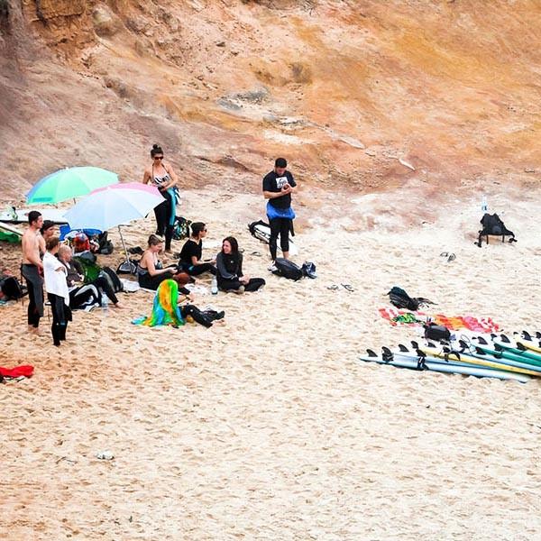 Surfkurs an der Nordküste von Peniche