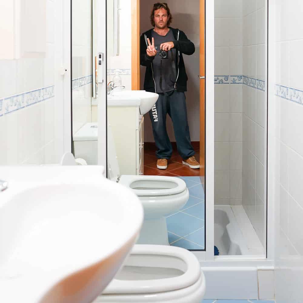 Badzimmer mit WC, Dusche und Bidet