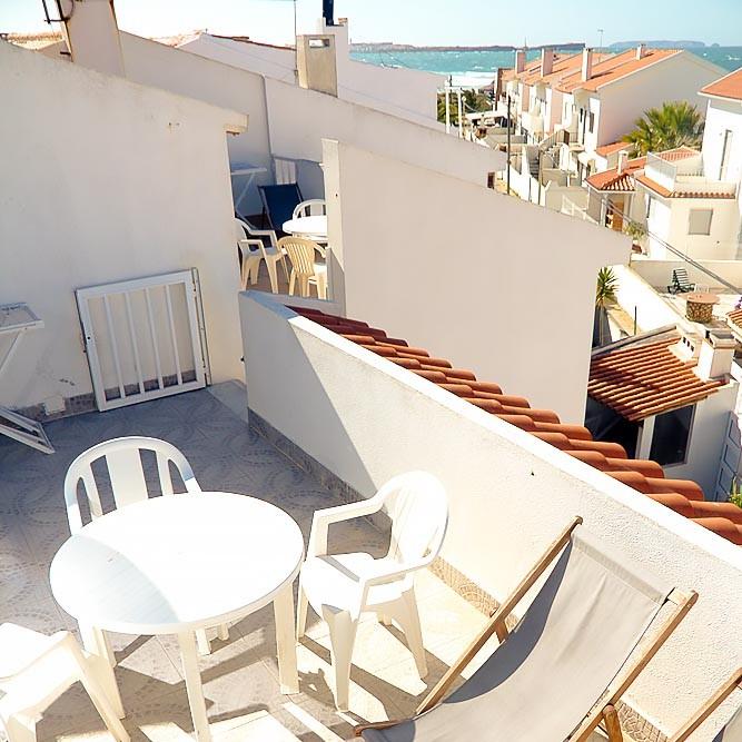 Ferienwohnung Peniche Balkon mit Meerblick