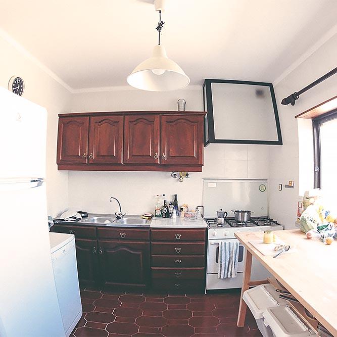 communal hostel kitchen