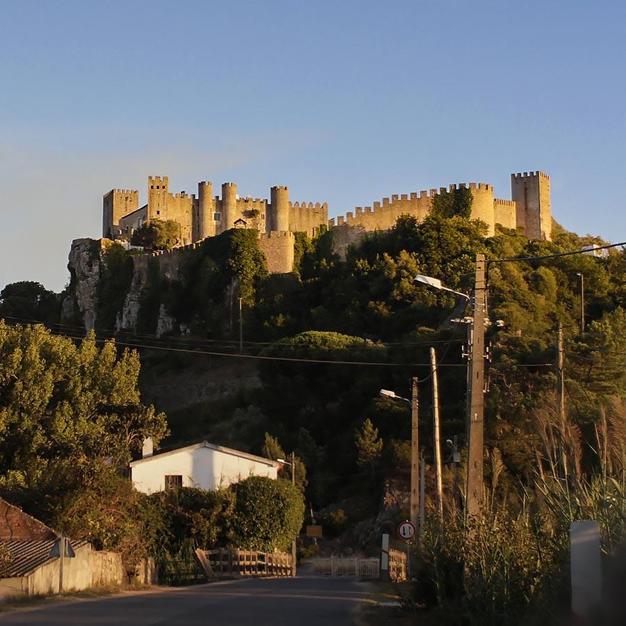 Die Burgmauern von Obidos