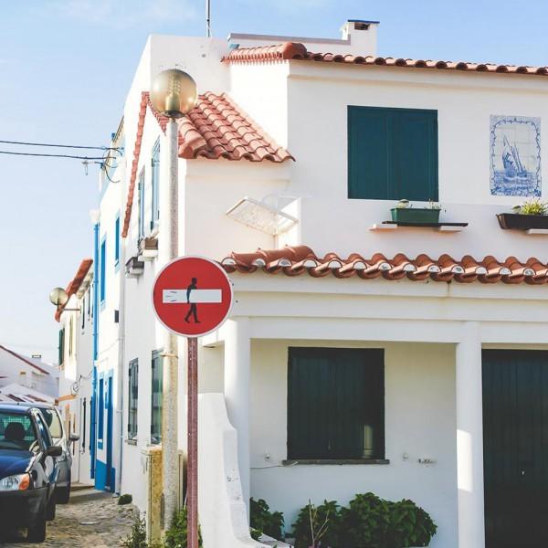 Fischerhaus auf der Insel von Baleal