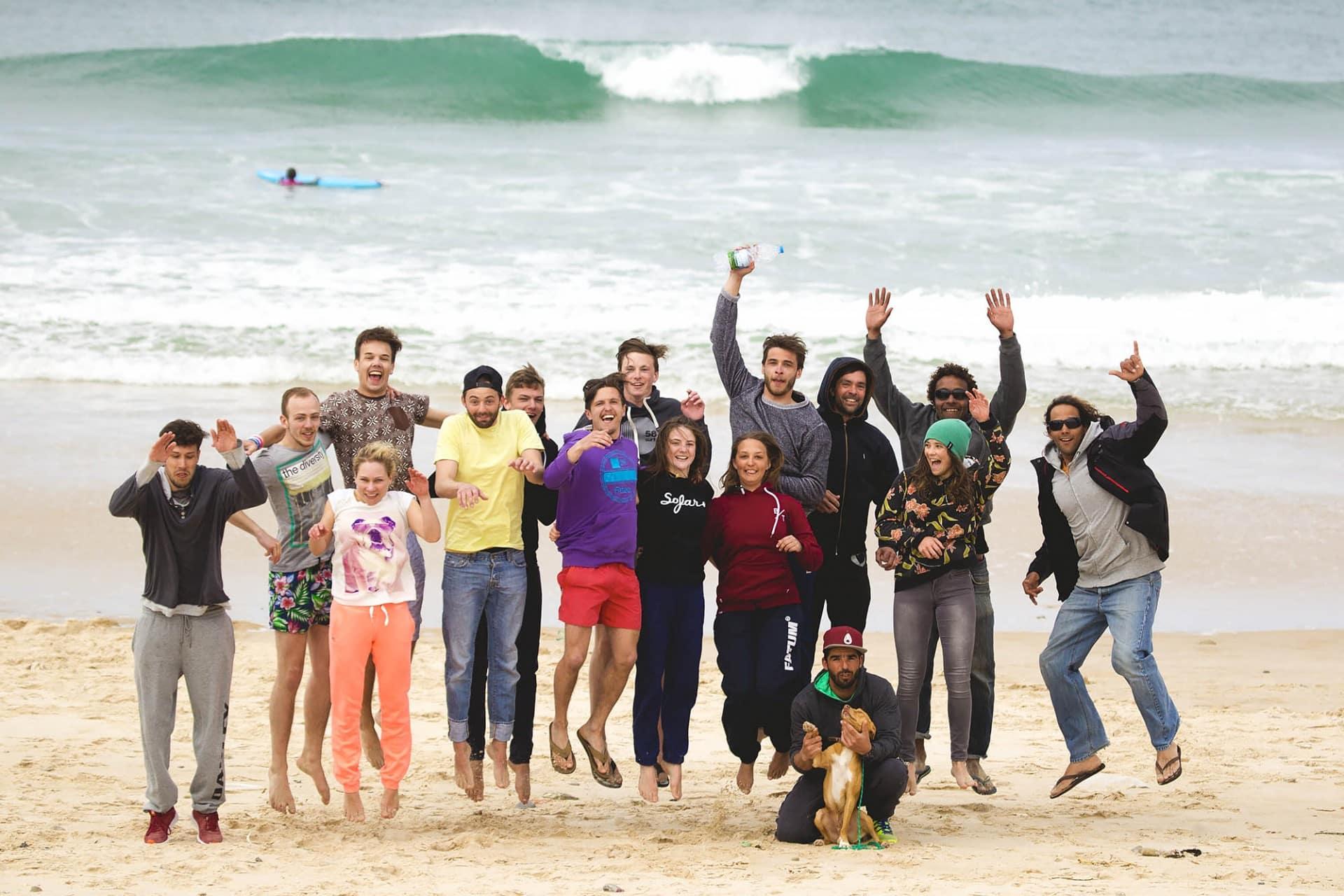 Surfkurs Peniche Gruppenfoto