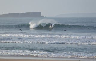 winter welle in peniche